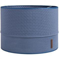 Abat-jour bleu denim (30 cm)