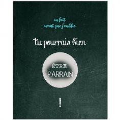 Carte à gratter Demande spéciale Chalkboard Parrain (8 x 10 cm)