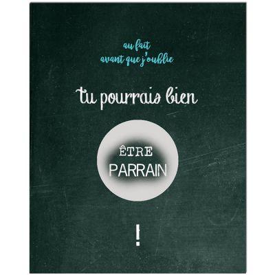 Carte à gratter Demande spéciale Chalkboard Parrain (8 x 10 cm)  par Les Boudeurs
