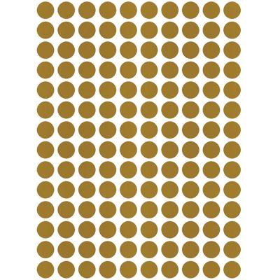 Stickers muraux ronds dorés