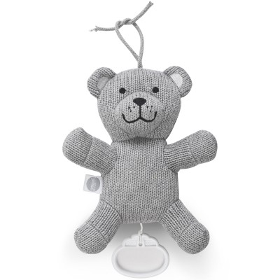 Peluche musicale Natural knit ours gris (19 cm) Jollein
