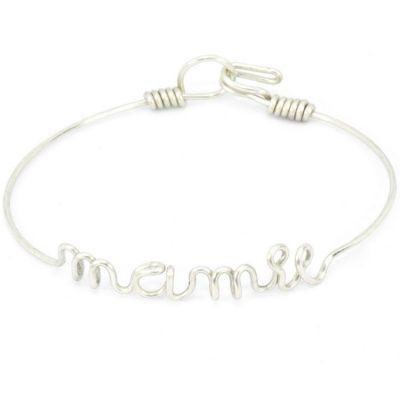 photos officielles d69ee 3a700 Bracelet Mamie en fil d'argent 925° (16 cm)