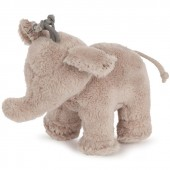 Peluche Ferdinand l'éléphant taupe (12 cm) - Tartine et Chocolat