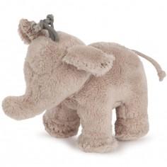 Peluche Ferdinand l'éléphant taupe (12 cm)