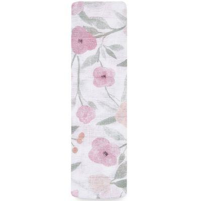 Maxi lange en coton Ma Fleur Garden Party (120 x 120 cm)  par aden + anais