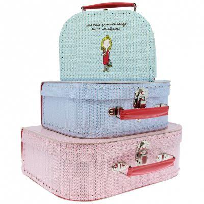 Set de 3 valises décoratives Princesses  par Petit Jour Paris