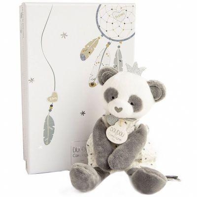 Coffret peluche Panda Attrape-rêves (20 cm)  par Doudou et Compagnie