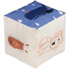 Cube tissu Family