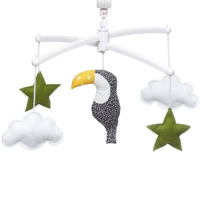 Mobile musical toucan vert (mélodie au choix)