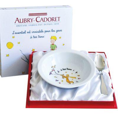 Coffret repas assiette + cuillère inox Le Petit Prince (2 pièces)  par Aubry-Cadoret