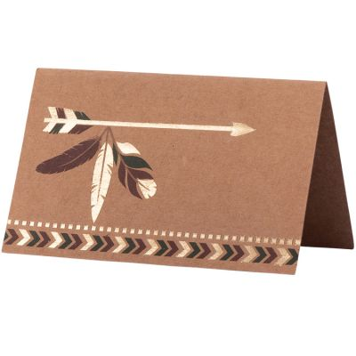 Lot de 8 marque-places en carton Indian Forest  par Arty Fêtes Factory