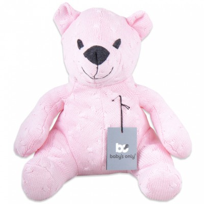 Peluche ourson Cable Uni rose (35 cm) Baby's Only