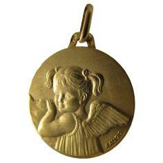Médaille fille aux couettes Les Loupiots (or jaune 750°)