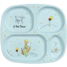 Assiette à compartiments Le Petit Prince bleue