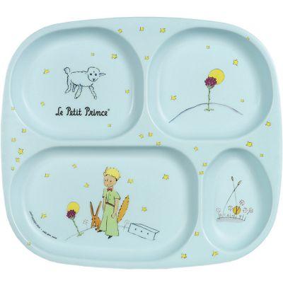 Assiette à compartiments Le Petit Prince bleue  par Petit Jour Paris