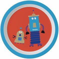 Assiette plate Les Robots (18 cm)