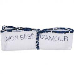 Lange en coton Mon bébé d'amour Origamignon (70 x 70 cm)