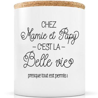 Bougie Chez Mamie et Papy c'est la belle vie  par Créa Bisontine