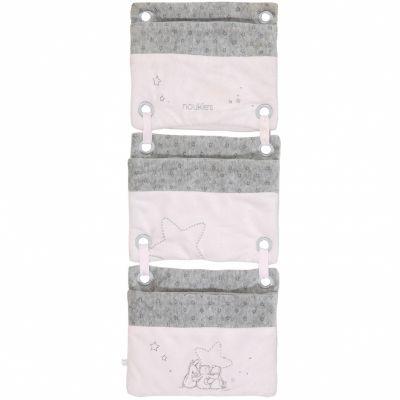Vide-poches à suspendre Poudre d'étoiles rose  par Noukie's