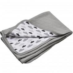 Couverture en coton Quilt nuage gris (100 x 150 cm)