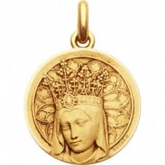 Médaille Vierge Couronnée  (or jaune 750°)
