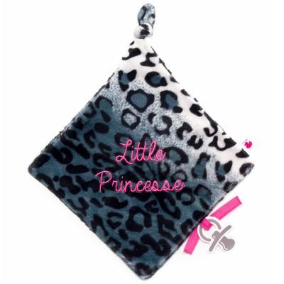 Doudou plat attache sucette Little Princesse BB & Co