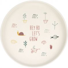Assiette Hey ho let's grow rose Garden Explorer