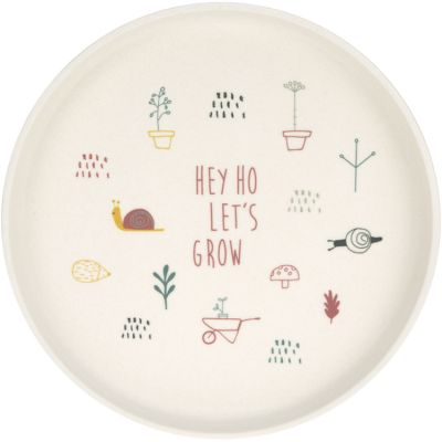 Assiette Hey ho let's grow rose Garden Explorer  par Lässig