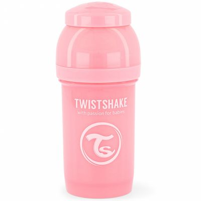 Biberon anti-colique rose pastel (180 ml)  par Twistshake