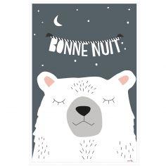 Affiche Ours Bonne nuit (60 x 40 cm)