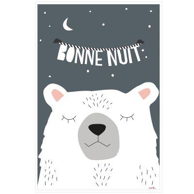 Affiche Ours Bonne nuit (60 x 40 cm)  par Mimi'lou