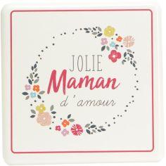 Plaque décorative en métal à accrocher Jolie Maman d'amour