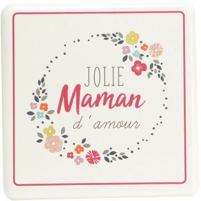 Plaque décorative en métal à accrocher Jolie Maman d'amour  par Amadeus Les Petits