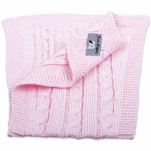 Bavoir protection d'épaules Cable Uni rose  par Baby's Only