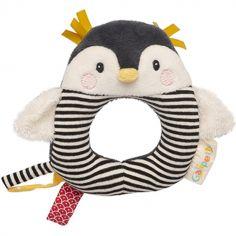 Hochet anneau pingouin Les Nanouks