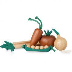 Légumes factices en bois