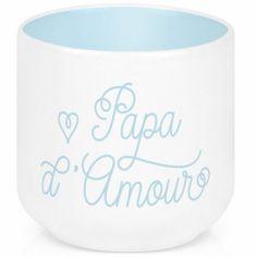 Coquetier en porcelaine Papa d'amour