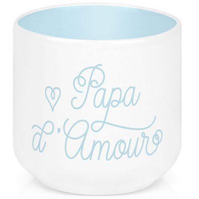 Coquetier en porcelaine Papa d'amour Créa Bisontine