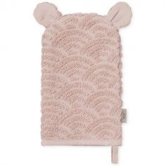 Gant de toilette rose