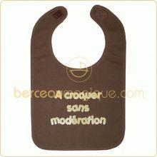 Bavoir ''A croquer sans modération'' chocolat  par BB & Co