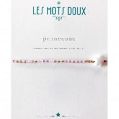 Bracelet Princesse (perles en pâte de verre)