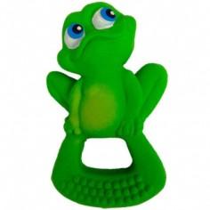 Anneau de dentition latex d'hévéa grenouille verte