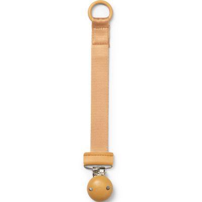 Attache sucette bois jaune Gold  par Elodie Details