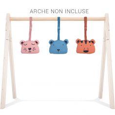Jouets pour arche d'activités Babygym Animal club (3 pièces)