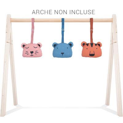 Jouets pour arche d'activités Babygym Animal club (3 pièces)  par Jollein
