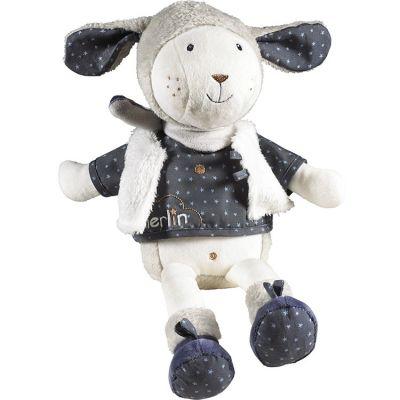 Peluche Merlin mouton (38 cm) Sauthon Baby Déco