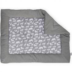 Tapis de jeu Safari gris (80 x 100 cm)