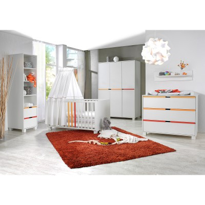 pack trio lit b b commode langer et armoire color line. Black Bedroom Furniture Sets. Home Design Ideas