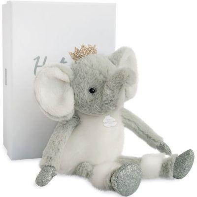 Peluche Elfy l'éléphant Happy Family (25 cm) Histoire d'Ours