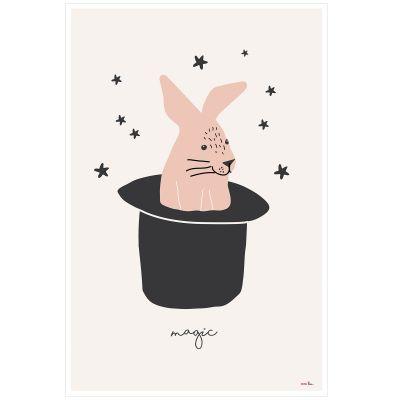 Affiche Lapin Magic rabbit (60 x 40 cm)  par Mimi'lou
